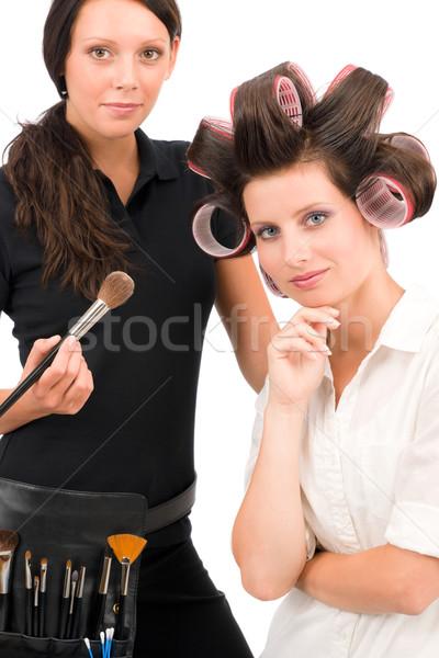 Make-up artist woman fashion portrait model  Stock photo © CandyboxPhoto