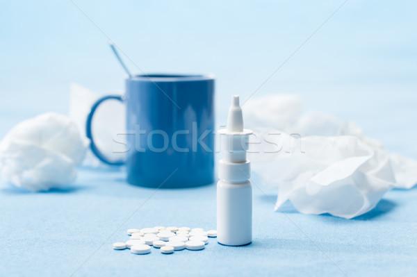Koud ziekte thee medische landschap geneeskunde Stockfoto © CandyboxPhoto