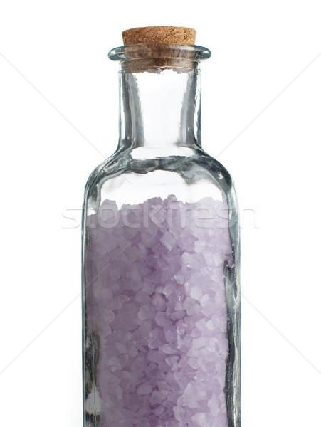 Színes fürdősó fehér üveg egészség pihen Stock fotó © cardmaverick2