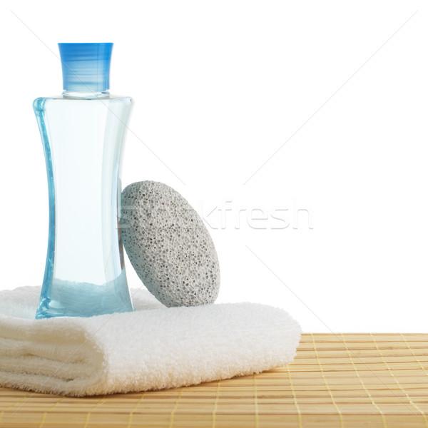 Foto stock: Spa · escena · bano · productos · pantalla · blanco