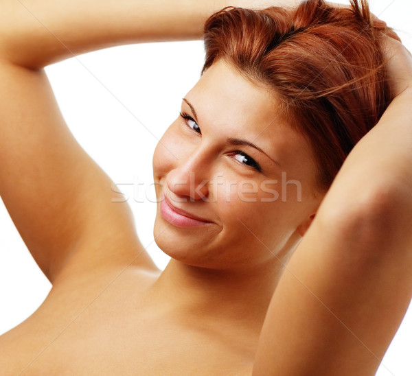 Hermosa spa mujer blanco nina cuerpo Foto stock © cardmaverick2