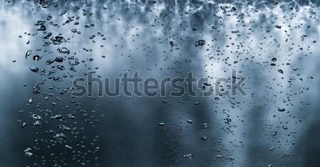 Emelkedő vízalatti buborékok oldalnézet felfelé víz Stock fotó © cardmaverick2