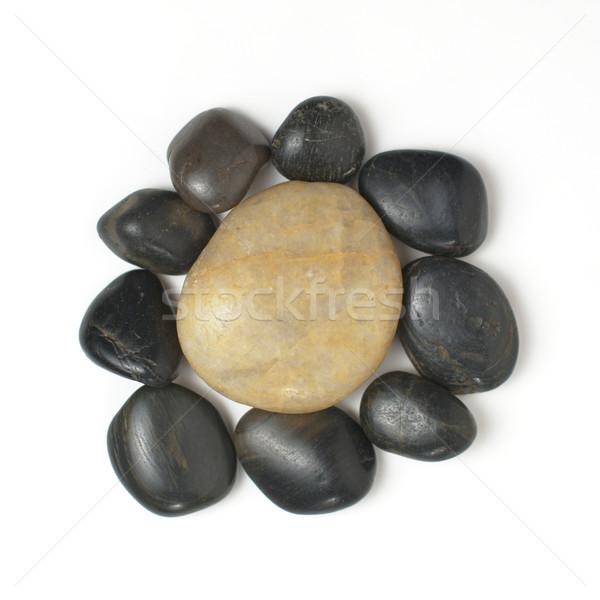 Kő kirakat csoport kövek fehér tengerpart Stock fotó © cardmaverick2