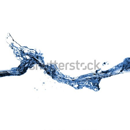 Stock photo: Clear Water Against White