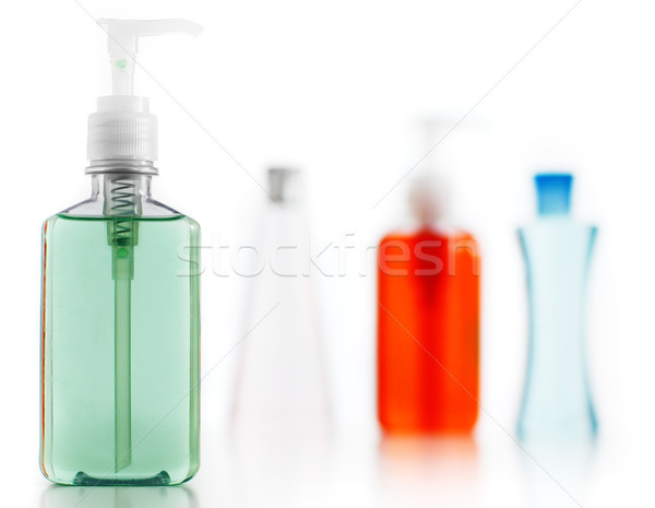 Szappan testápoló sampon fehér fürdőkád termék Stock fotó © cardmaverick2