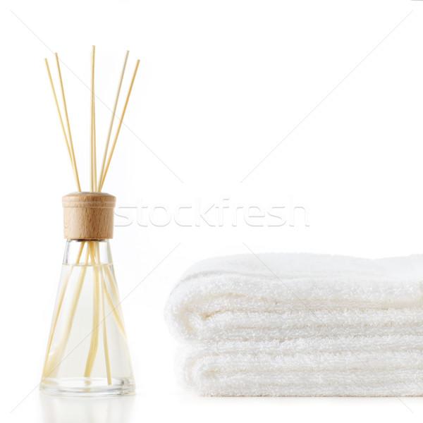Spa escena toallas blanco fondo Foto stock © cardmaverick2