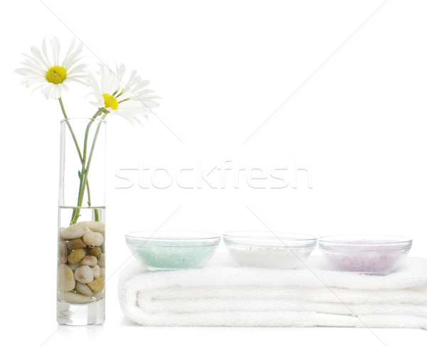 Foto stock: Spa · pantalla · brillante · blanco · flor · casa