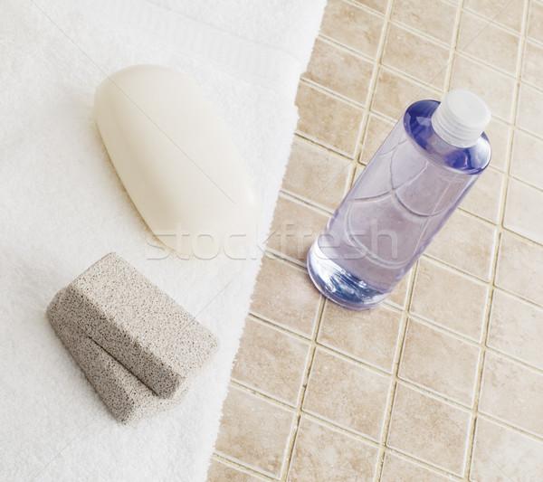 Fürdő kirakat kő csempe háttér otthon Stock fotó © cardmaverick2