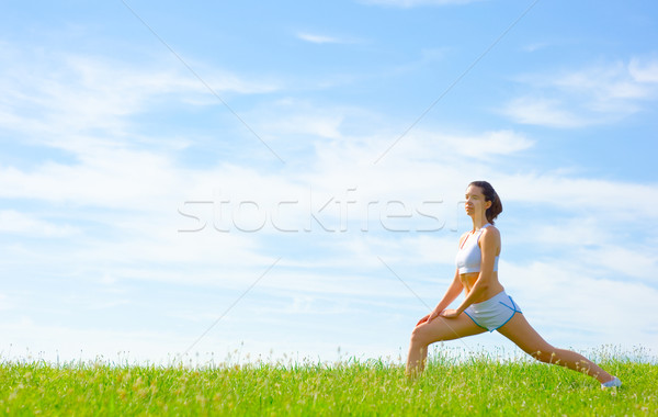 Mature Woman Athlete Stock photo © cardmaverick2
