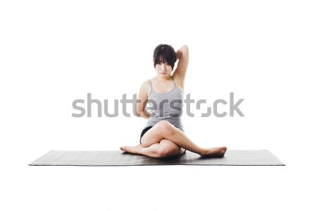 Chinese woman doing yoga. Stock photo © cardmaverick2