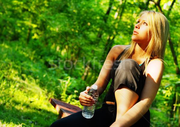 Foto stock: Forestales · camino · deporte · naturaleza