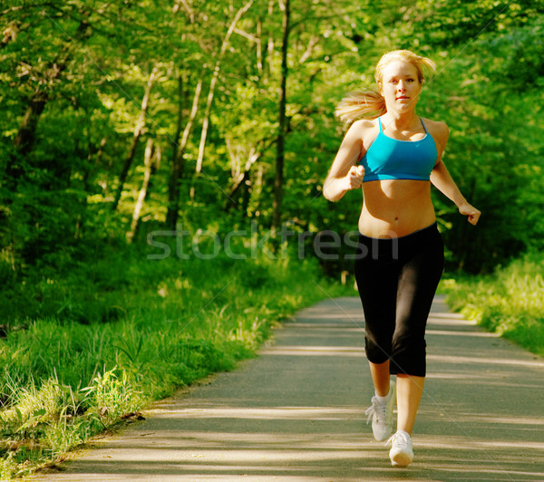 Young Woman Working Out Stock photo © cardmaverick2