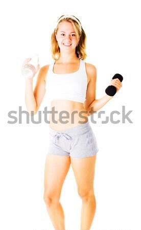 Młoda kobieta biały dziewczyna ciało zdrowia Zdjęcia stock © cardmaverick2