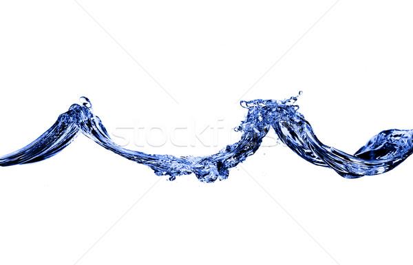 синий воды волны выстрел Сток-фото © cardmaverick2