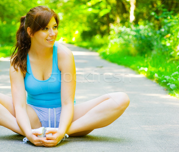 Young Woman Outdoor Workout Stock photo © cardmaverick2