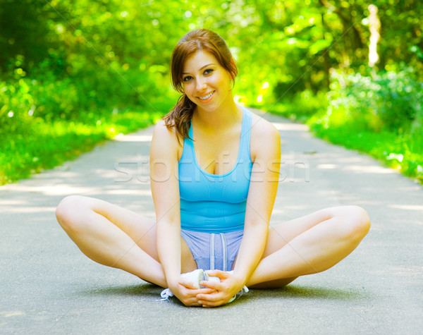 Young Woman Outdoor Workout Stock photo © cardmaverick2