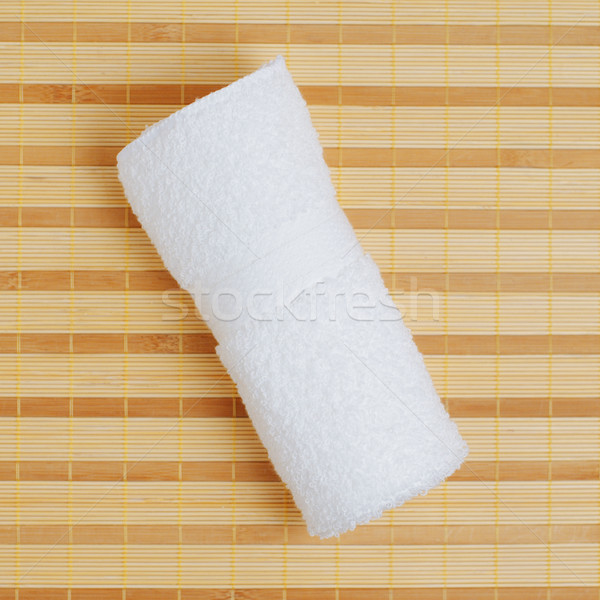 Spa pantalla blanco toalla bambú belleza Foto stock © cardmaverick2