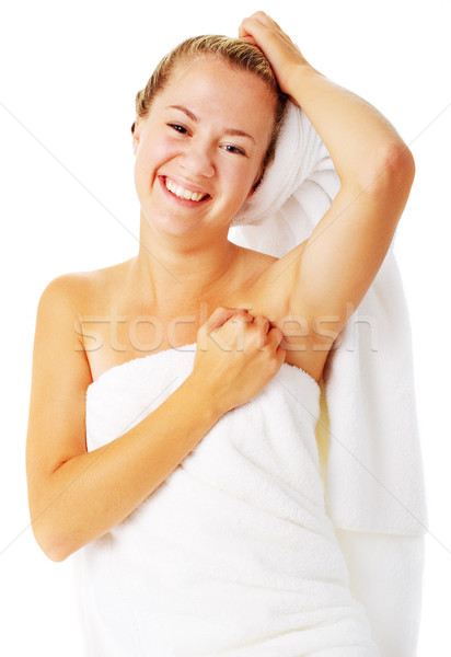 Beautiful Young Spa Woman On White Stock photo © cardmaverick2
