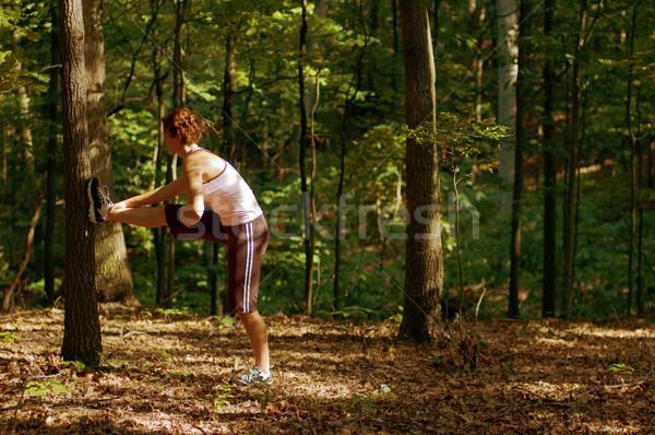 Stretching Runner Stock photo © cardmaverick2
