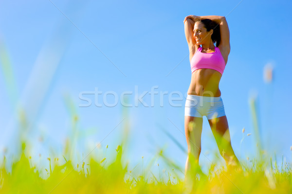 Stock photo: Athletic Woman Exercising