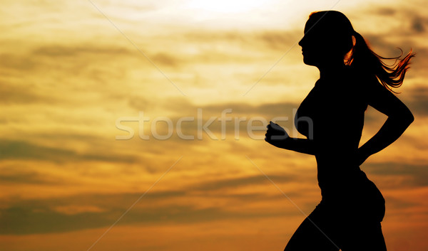 Sunset Runner Stock photo © cardmaverick2
