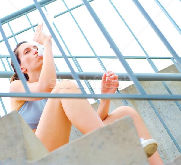 Urban Mature Woman Exercising Stock photo © cardmaverick2