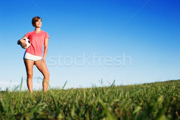 Jugando fútbol campo de fútbol fotos Foto stock © cardmaverick2