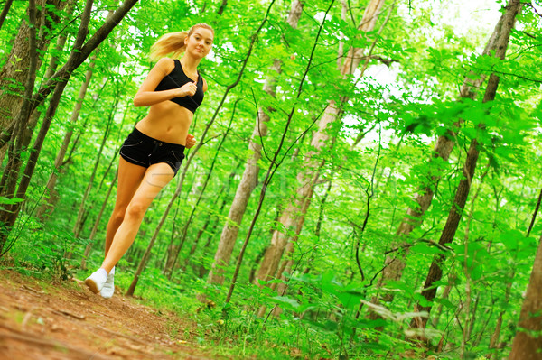 Blonde Woman Exercising  Stock photo © cardmaverick2