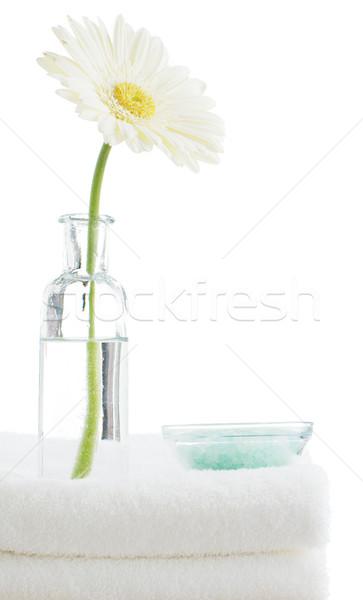 Foto stock: Spa · escena · toalla · objetos · blanco