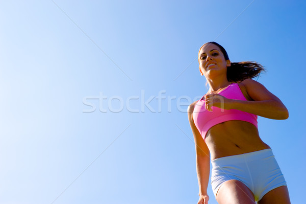 Athletic Woman Exercising  Foto stock © cardmaverick2