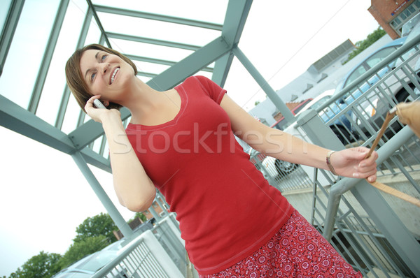 городского женщину ходьбе вверх лестницы женщины Сток-фото © cardmaverick2