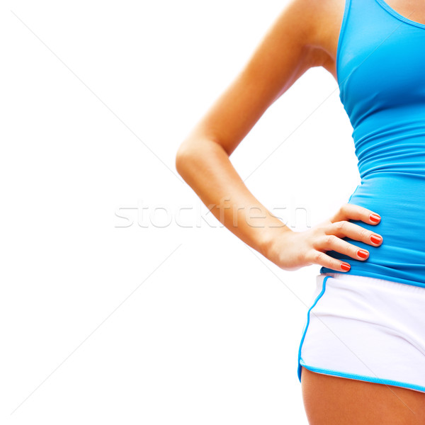 Workout Woman On White Stock photo © cardmaverick2