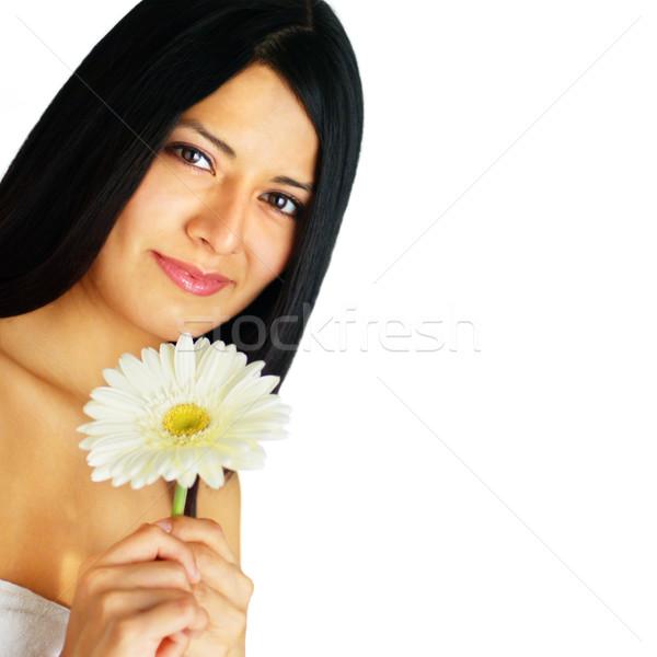 Güzel spa kadın genç çiçek Stok fotoğraf © cardmaverick2