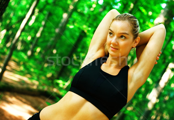 Mujer rubia mujer fotos Foto stock © cardmaverick2