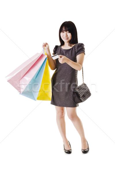 Chino mujer tarjeta de crédito hermosa Foto stock © cardmaverick2
