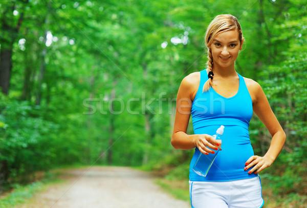 Drogowego runner kobieta zdjęć Zdjęcia stock © cardmaverick2