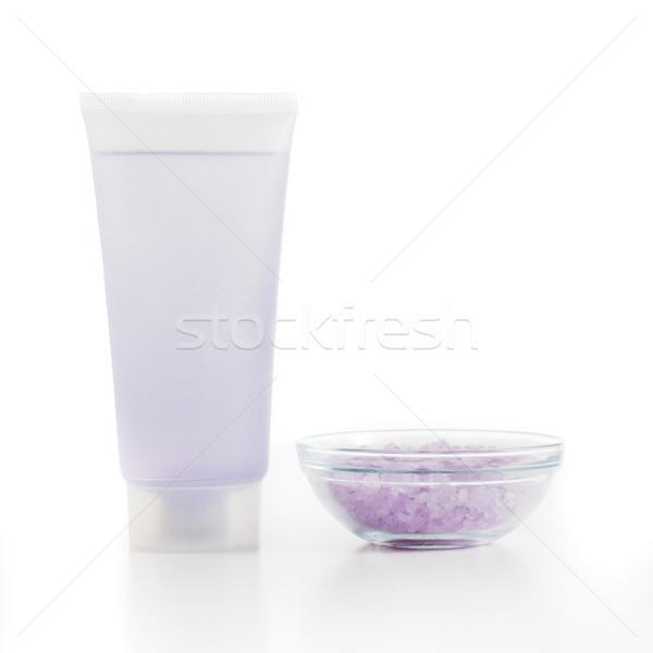 Foto stock: Jabón · blanco · fondo · belleza · color
