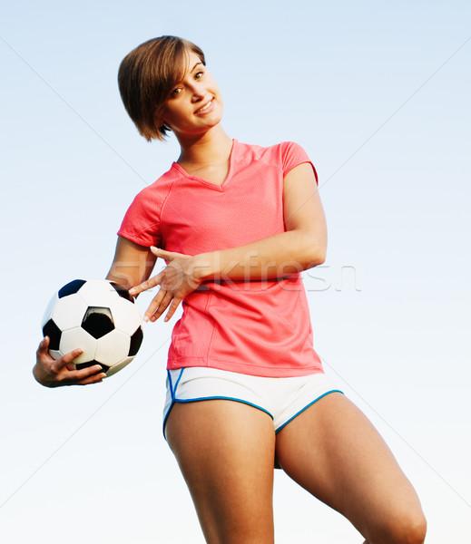 Giocare calcio campo di calcio foto Foto d'archivio © cardmaverick2