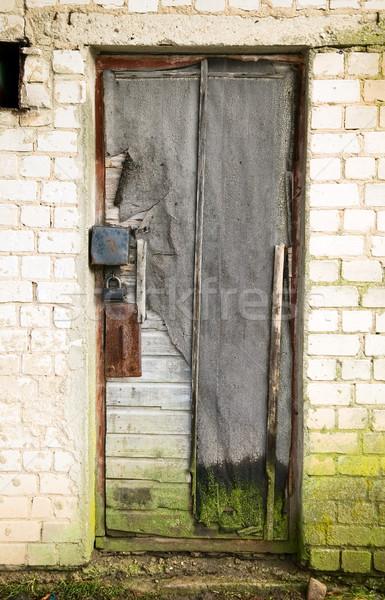 Vecchio vintage porte antica pietra costruzione Foto d'archivio © carenas1