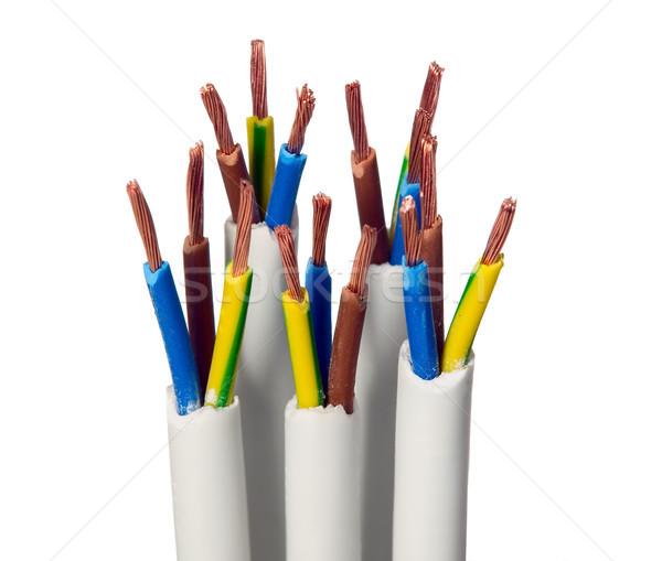 Closeup of electric wires Stock photo © carenas1
