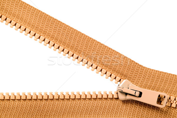 Brown zip with metal teeth Stock photo © carenas1