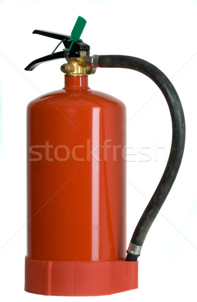 Yangın söndürücü kırmızı acil durum endüstriyel kimyasal güvenli Stok fotoğraf © carenas1