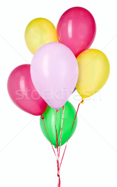 Ballon rouge chaîne fête décoration Nice Photo stock © carenas1