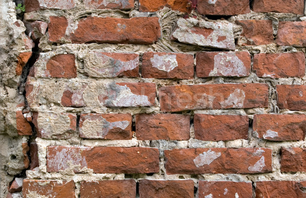 Oude muur bakstenen cement bouw oranje Stockfoto © carenas1