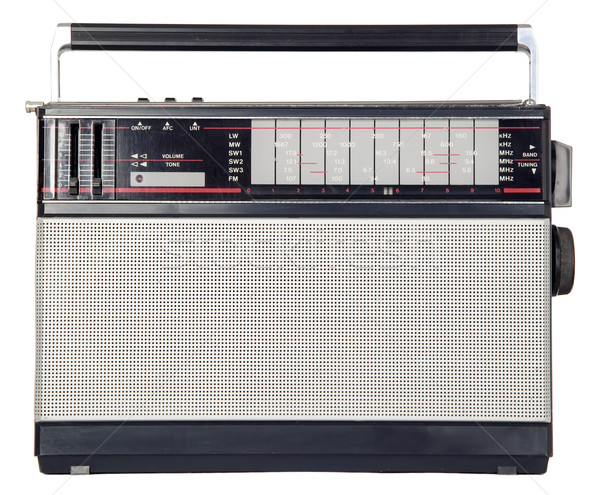 Stock photo: There is the old radio