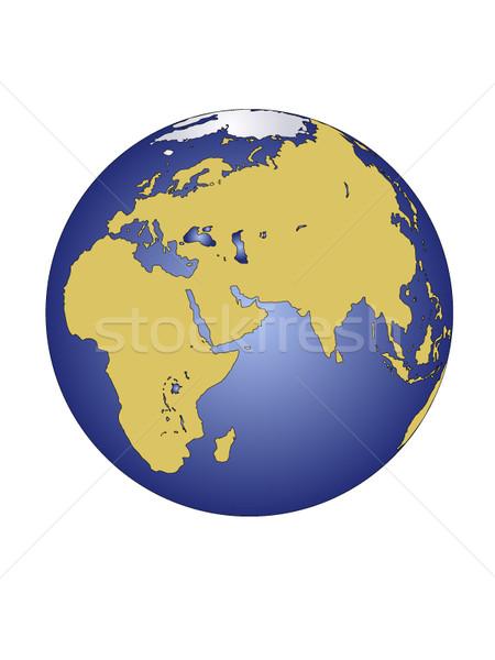 Föld bolygó kontinensek fa pillangó világ Stock fotó © carenas1