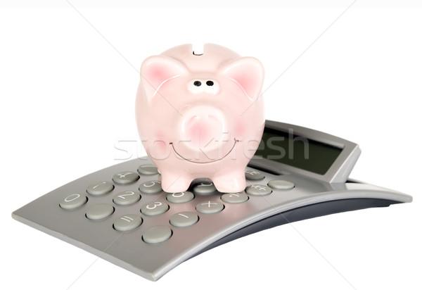 Сток-фото: свинья · калькулятор · Финансы · деньги · розовый