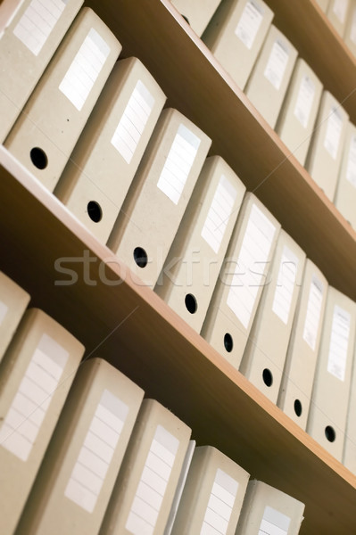 Many documents in shelf Stock photo © carenas1