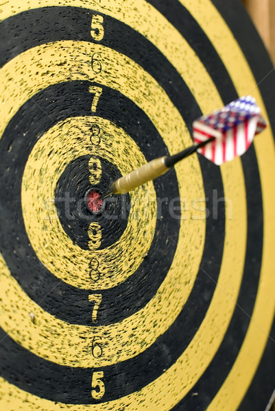 Dart with usa flag Stock photo © carenas1