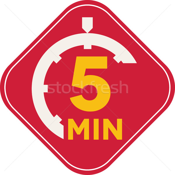 Icon of five minutes Stock photo © carenas1